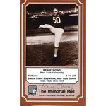 Ken Strong Autographed Immortal Roll Card