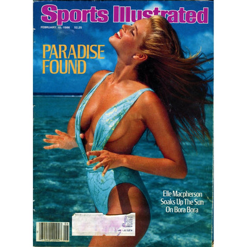 Elle Macpherson Unsigned February 1986 Sports Illustrated Swinsuit Issue