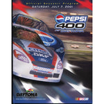 Daytona Pepsi 400 Official Program 2001