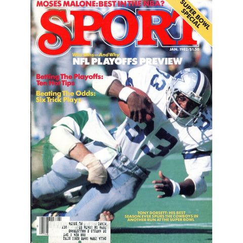 Tony Dorsett Unsigned Sport Magazine - January 1982