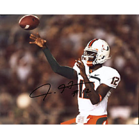 Jacory Harris Autographed / Signed Miami Hurricanes 8x10 Photo