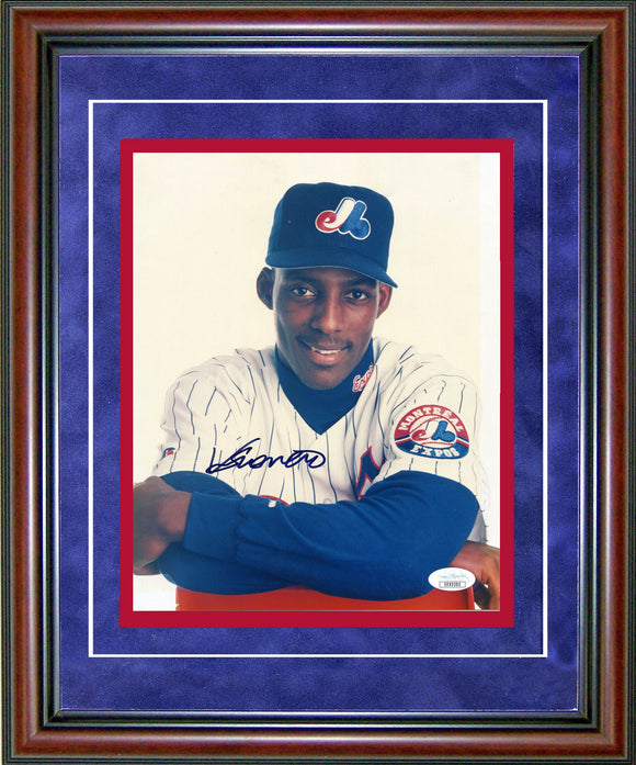 Vladimir Guerrero Autographed Framed 8x10 Photo (JSA)