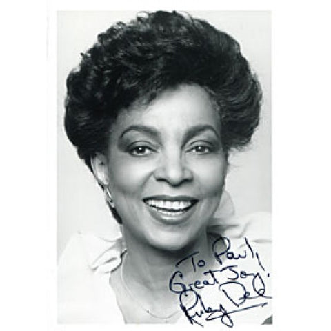 Ruby Dee Autographed / Signed Black & White Celebrity 5x7 Photo