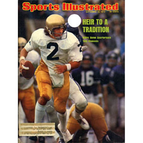 Tom Clements Unsigned Sports Illustrated Magazine - Sptember 30 1974