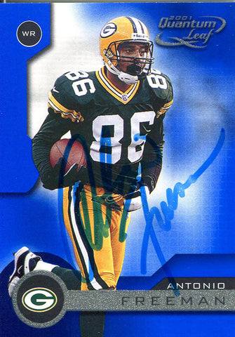 Antonio Freeman Autographed 2001 Donruss Card