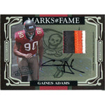 Gaines Adams Autographed 2007 Playoff Absolute Jersey Card