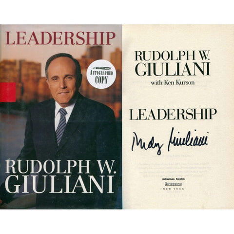 Rudy Giuliani Autographed Leadership Book