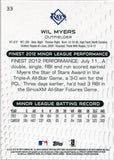 Wil Myers Unsigned 2013 Topps Finest Rookie Card