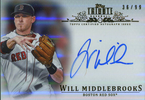 Will Middlebrooks Autographed 2013 Topps Tribute Card