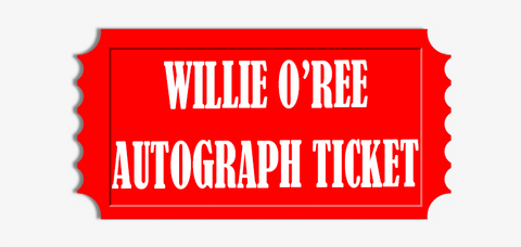 Willie O'Ree Jersey of Stick Pre-Order Autograph Ticket