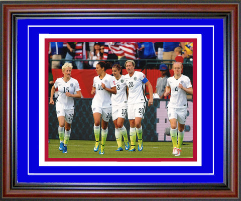 2015 Team USA Womens Soccer Unsigned Framed Celebrating 8x10 Photo