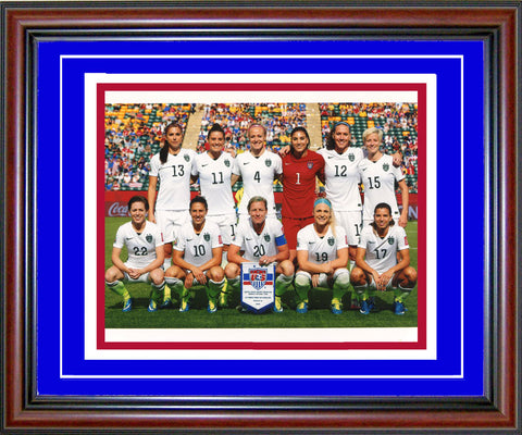 2015 Team USA Womens Soccer Unsigned Framed Roster 8x10 Photo