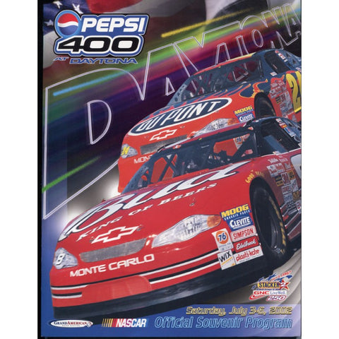 Daytona Pepsi 400 Official Program 2002