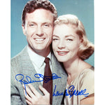 Robert Stack & Lauren Becall Autographed / Signed 8x10 Photo