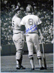 Carl Yastrzemski HOF 89 Autographed Standing with Thurman Munson 11x14 Photo