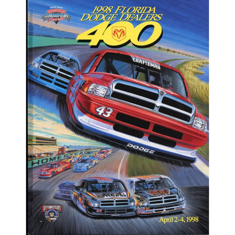 Florida Dodge Dealers 400 Official Program 1998