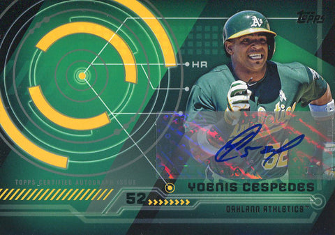 Yoenis Cespedes Autographed 2014 Topps Card