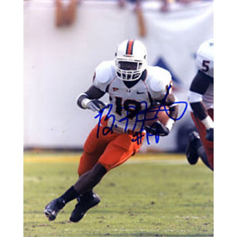 Brandon Meriweather Autographed / Signed Miami Hurricanes 8x10 Photo