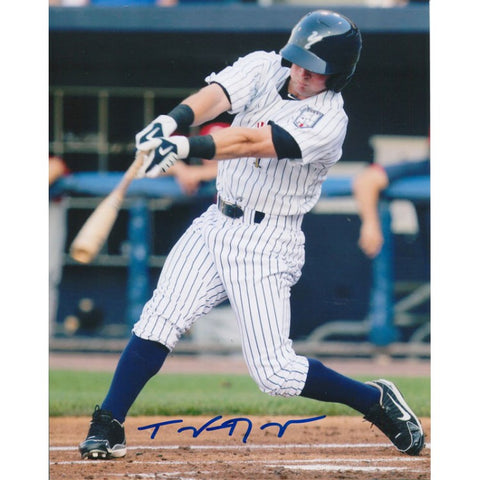 Taylor Dugas Autographed Staten Island Yankees Swinging 8x10 Photo