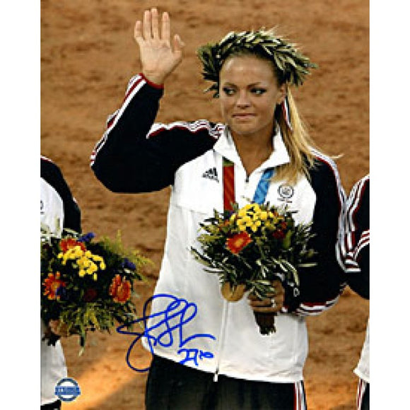 Jennie Finch Autographed / Signed Olympic Ceremony 8x10 Photo