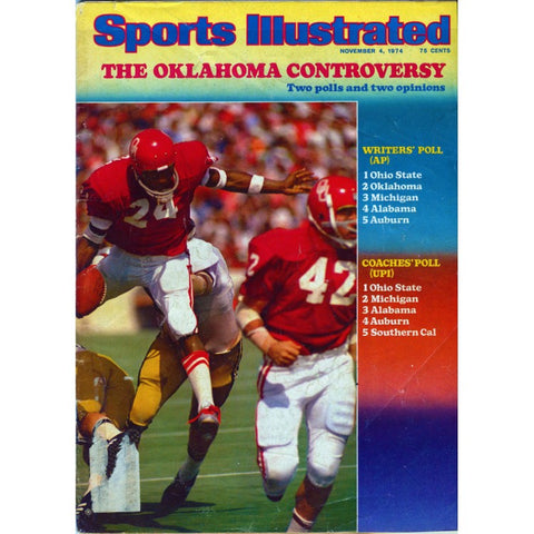 The Oklahoma Controversy Unsigned November 1974 Sports Illustrated Magazine