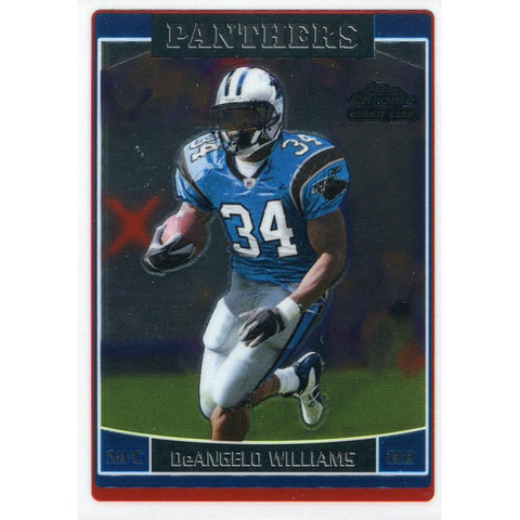 DeAngelo Williams Unsigned 2006 Topps Chrome Rookie Card