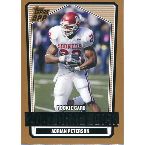 Adrian Peterson Unsigned 2007 Topps Dpp Rookie Card