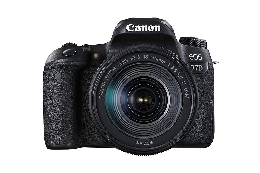 Canon EOS 77D DSLR Camera with EF-S 18-135 mm F3.5-5.6 IS USM Lens