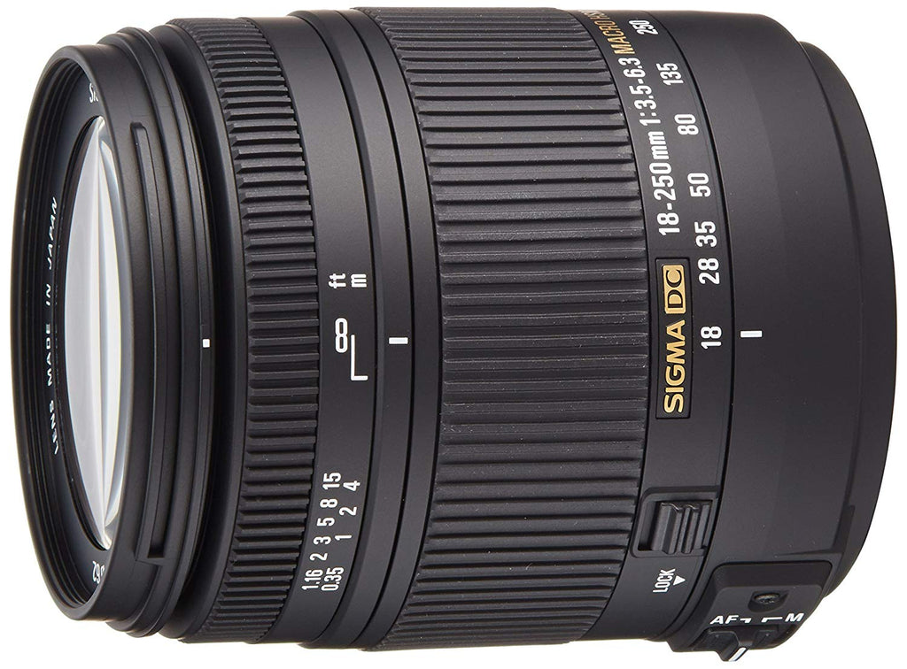 Sigma 18-250mm f/3.5-6.3 DC Macro OS HSM Lens for Canon