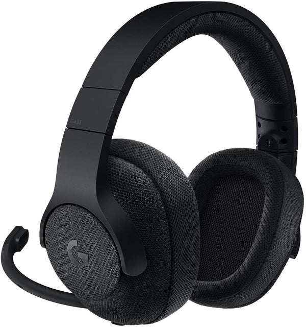 Logitech Gaming G433 Full-Size Headset - Cardioid - Black