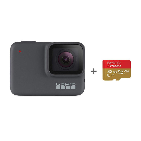 GoPro HERO7 Silver with SanDisk 32GB Memory Card