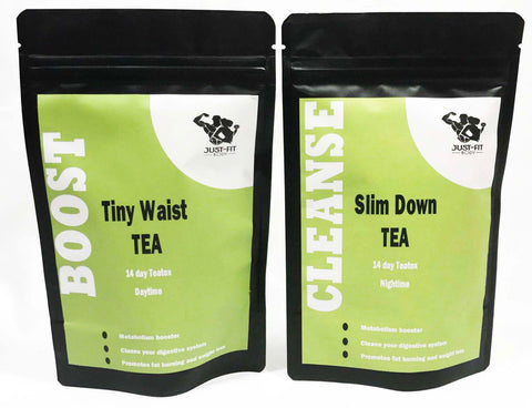14 day Tiny Waist Boost and Slim Down Cleanse Tea+FREE TEA INFUSER
