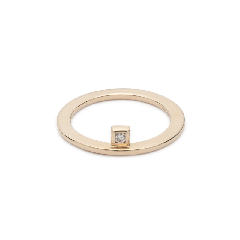 Stacking Square Diamond Ring