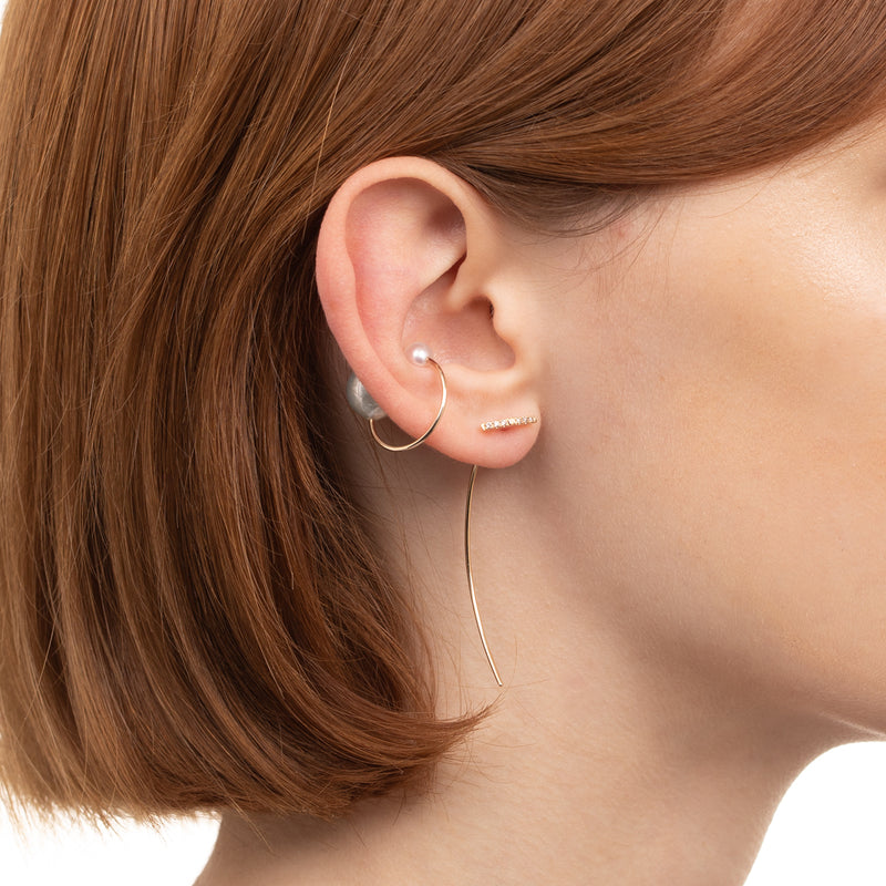 Trapeze Diamond Arrow Earring