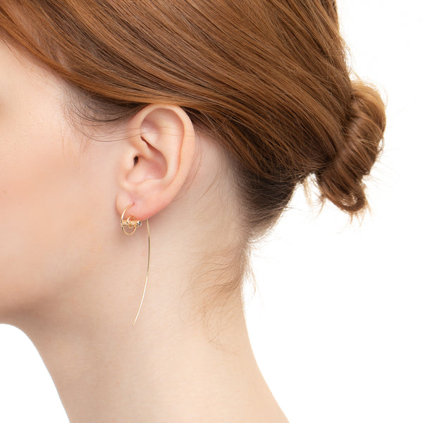 Coil Earring White & Black Diamond