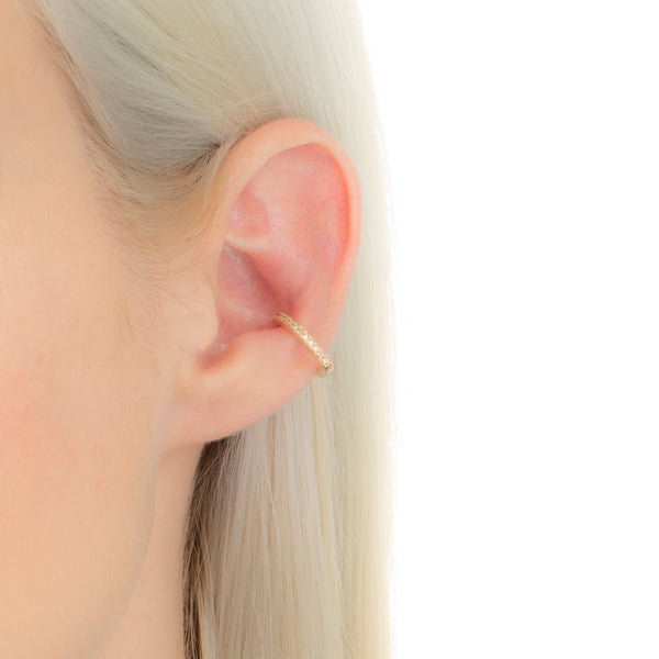 Manhattan Diamond Ear Cuff S size