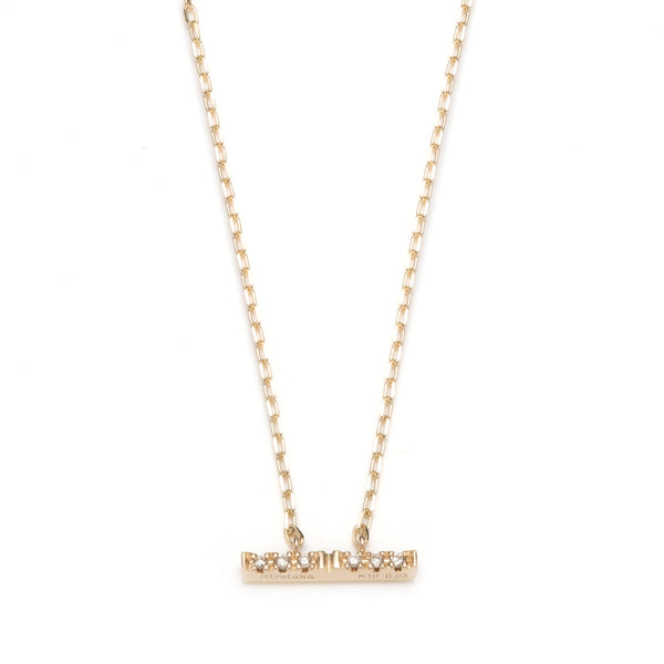 Trapeze Diamond Necklace S