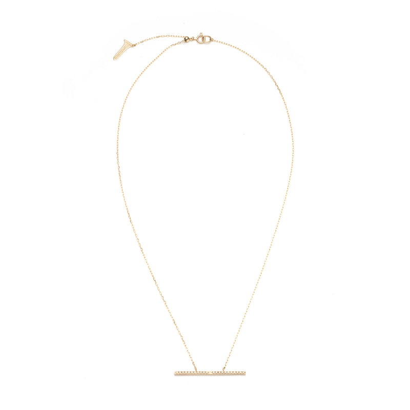 Trapeze Diamond Necklace L size