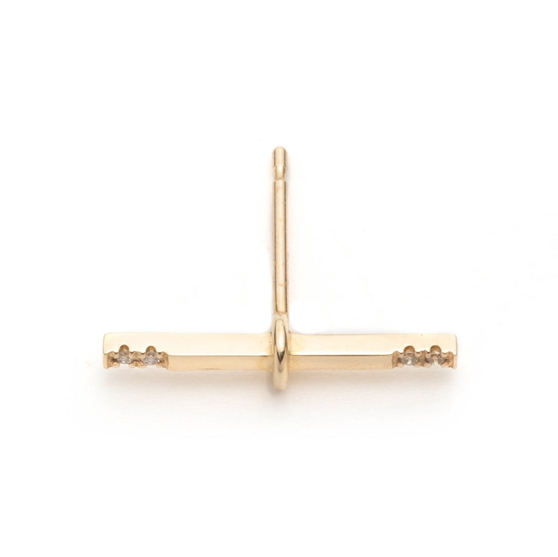 Trapeze Diamond Earring