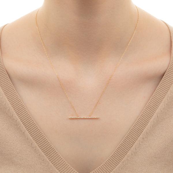 Trapeze Diamond Necklace L