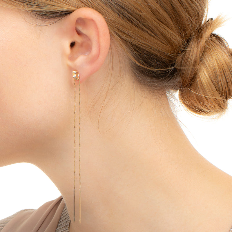 Contortionist Chain Earring L