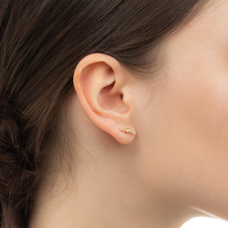 Trapeze Diamond Bar Earring