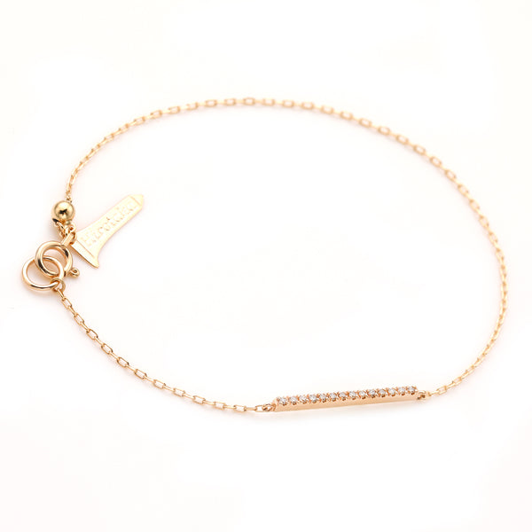 Gossamer Diamond Short Bar Bracelet