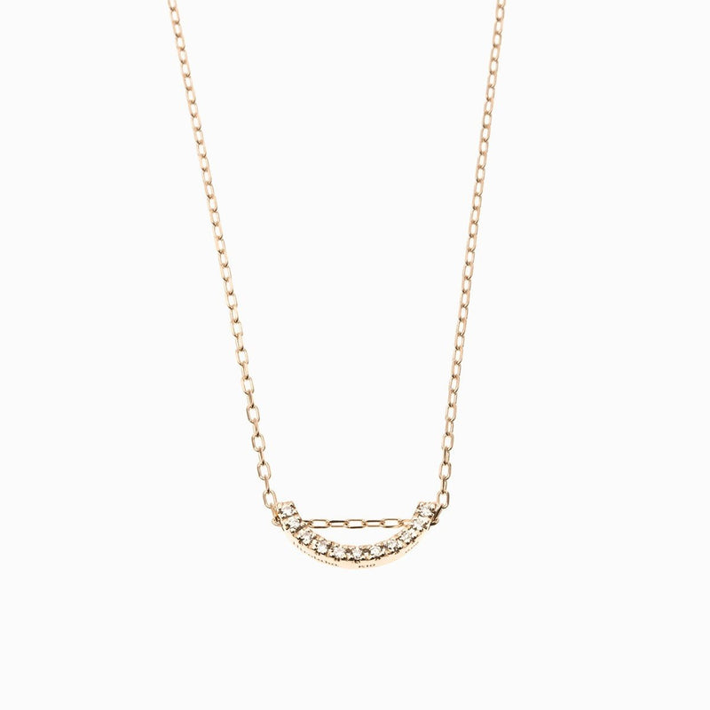 Bow Diamond Necklace S