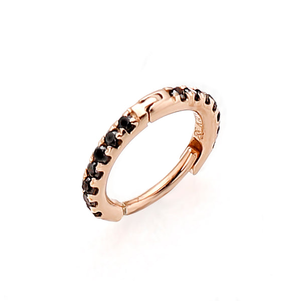 Diamond Hoop Earring S (Rose Gold)