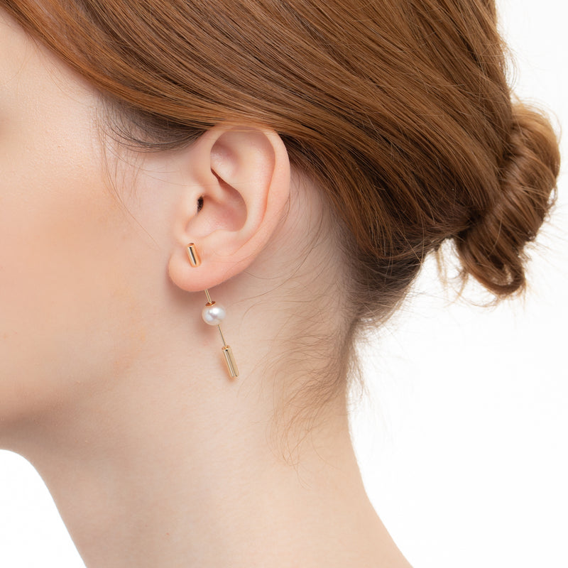 Short Spear Pearl Earring