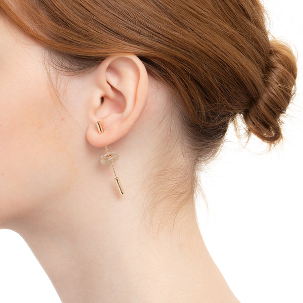 Short Spear Rutile Earring