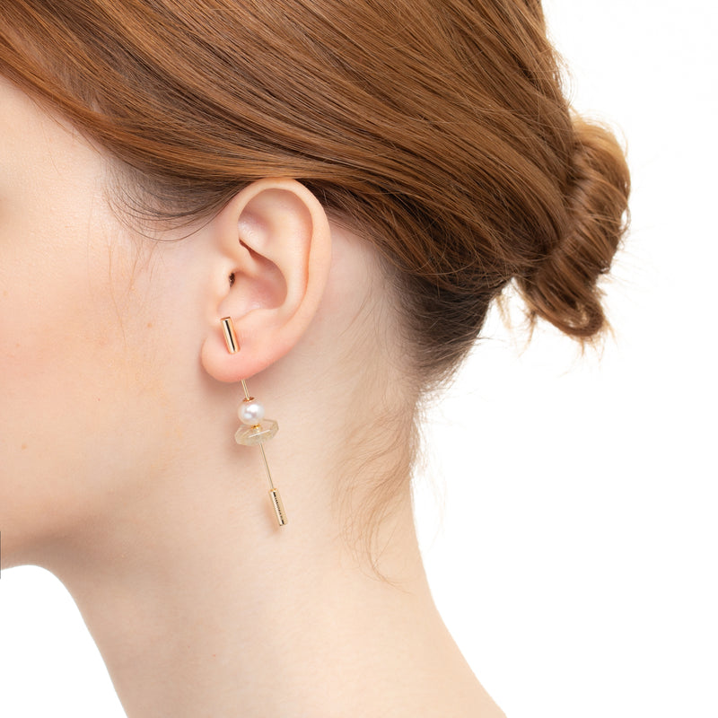 Spear Rutile Earring