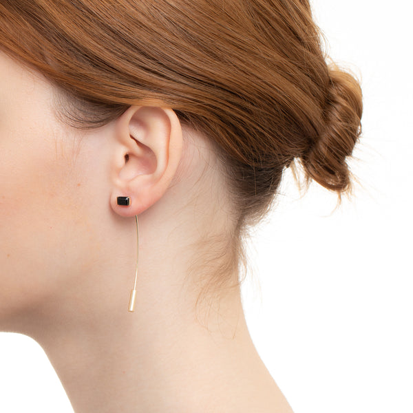 Bird of Paradise Stone Arrow Earring