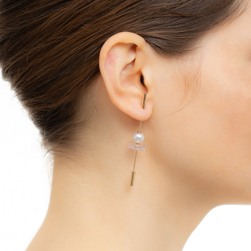 Spear Amethyst Earring